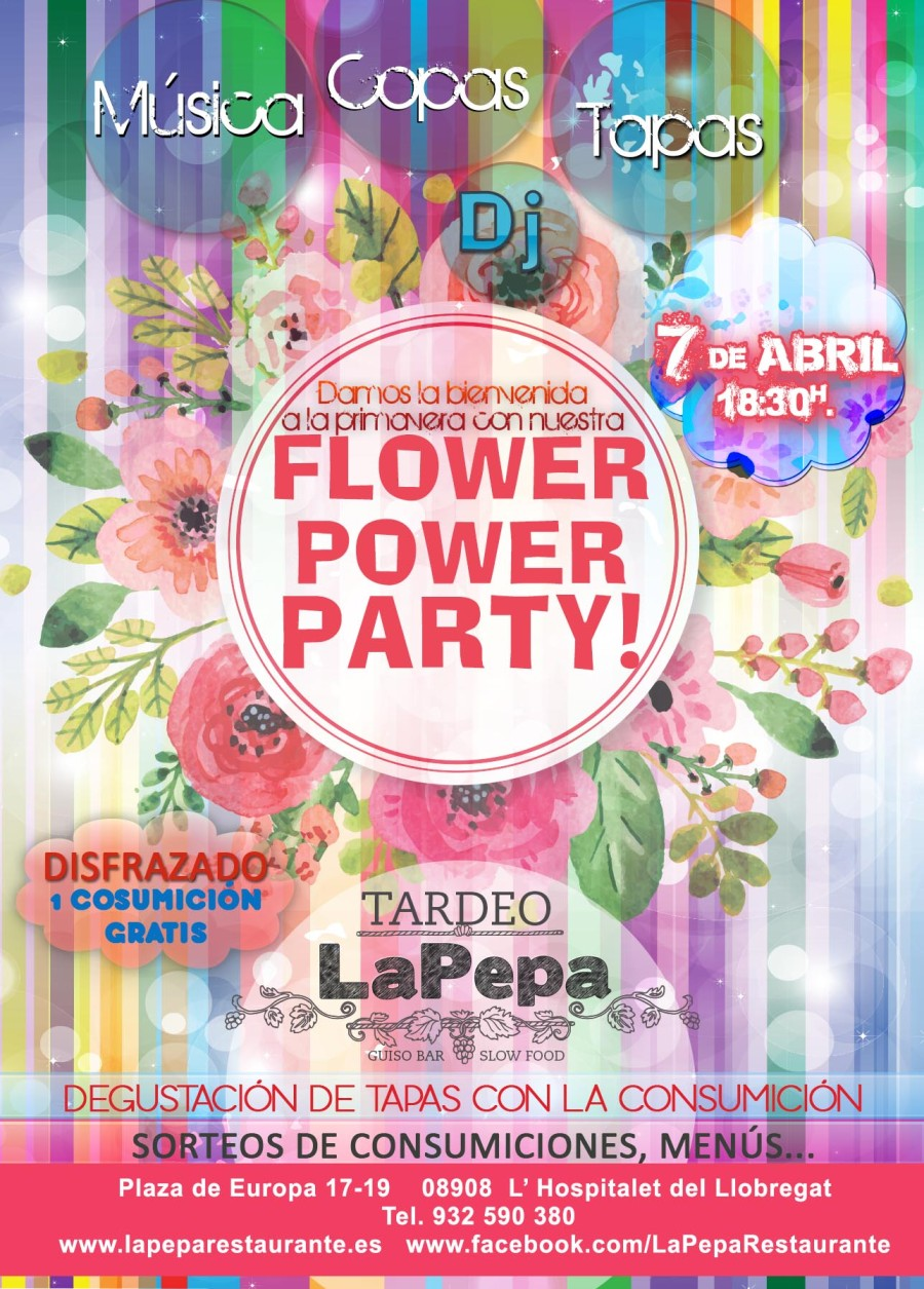 ¿Preparados para la FLOWER POWER PARTY?